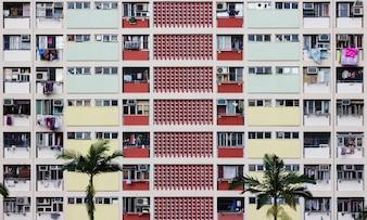 Bunte Wohnung in Hong Kong