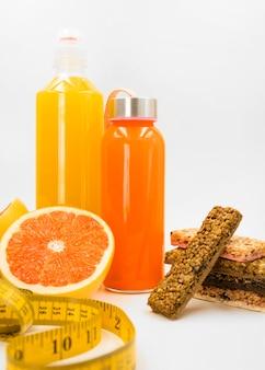 Bunte zusammensetzung mit gesunden lebensmitteln