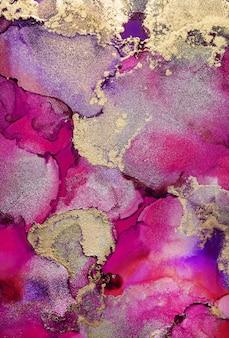 Bunter abstrakter malhintergrund. hochstrukturierte ölfarbe. hochwertige details. moderne abstrakte malerei der alkoholtinte, moderne zeitgenössische kunst.