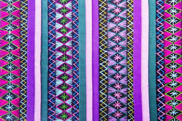 Bunter afrikanischer peruanischer artwolldecken-abschluss oben. mehr von diesem motiv und mehr textilien in meinem hafen.