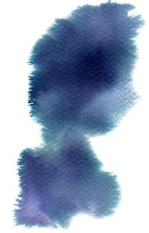 Bunter aquarellfleck mit aquarellfleck