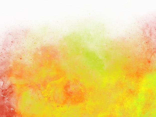 Bunter aquarellhintergrund des abstrakten sonnenunterganghimmels mit geschwollenen wolken in den hellen regenbogenfarben