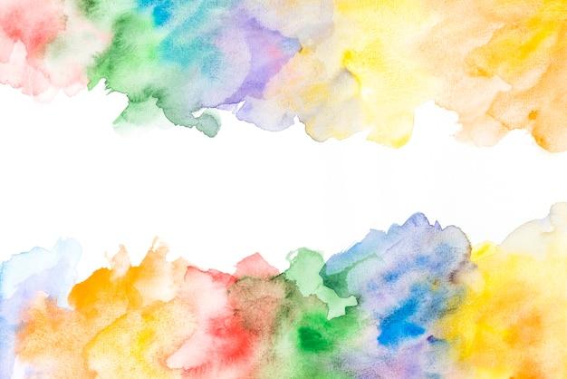 Bunter aquarellhintergrund des kreativen vibrierenden schmutzes