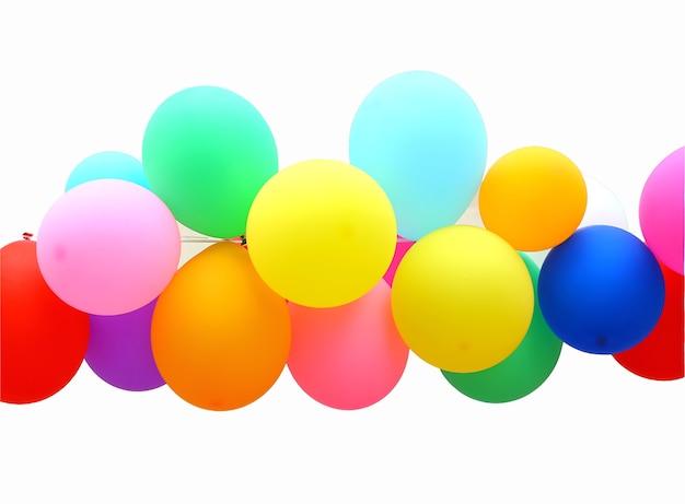 Bunter ballon getrennt auf weißem hintergrund