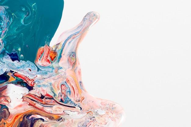 Bunter flüssiger marmorhintergrund diy fließende textur experimentelle kunst