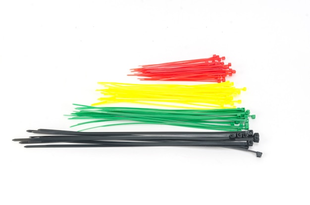 Bunter kabelbinder lokalisiert