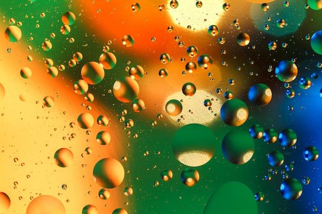 Bunter künstlicher hintergrund mit luftblasen.