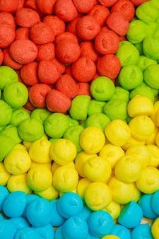 Bunter leckerer marshmallow-lebensmittelhintergrund