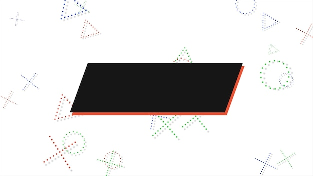 Bunter memphis-hintergrund, abstrakte geometrische formen der quadrate. eleganter und luxuriöser dynamischer stil für geschäfts- und unternehmensvorlagen, 3d-illustration