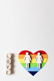 Bunter regenbogen der schwulen vielfalt