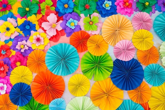 Bunter rosafarbener blumenpapierhintergrund des abstrakten tapetenregenbogens