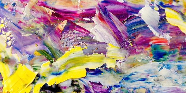 Buntes abstraktes hintergrundölgemälde auf leinwand