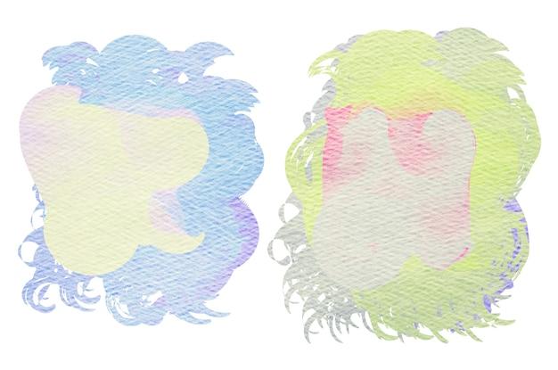 Buntes aquarell gemalter hintergrund. abstrakte digitale malerei.