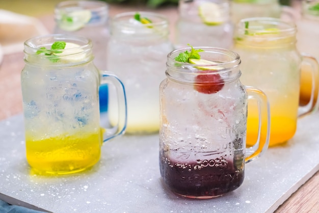 Buntes italienisches soda