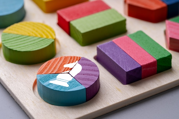 Buntes kreisdiagramm-puzzle des geschäfts u. strategie