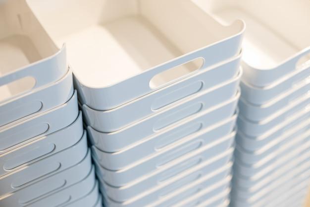 Buntes logistisches geschäft des plastikbehälterkastens stapel-speichers