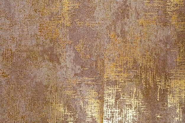 Buntes retro-wandteppich-textilmuster mit goldbeschaffenheit