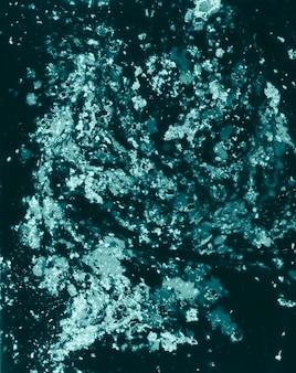 Buntes weißes dunkelgrünes gemaltes wasser