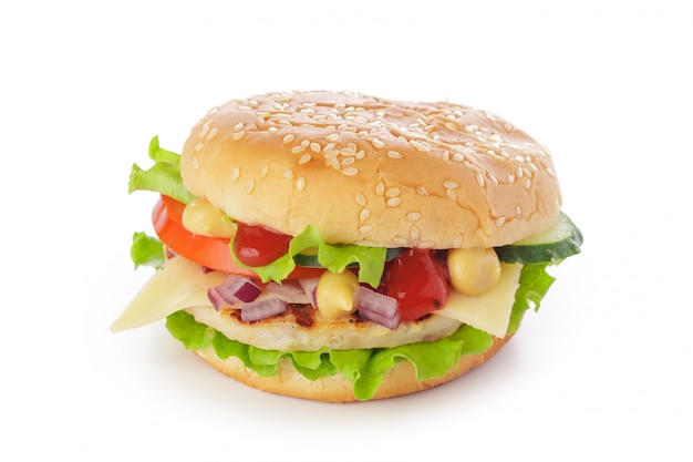 Burger auf weiß