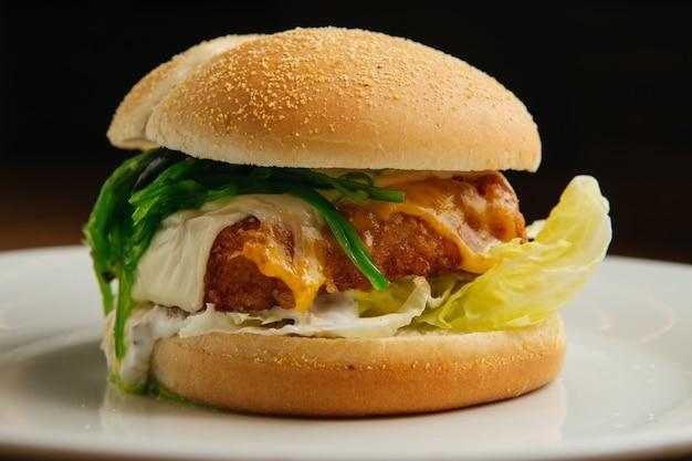 Burger mit fisch
