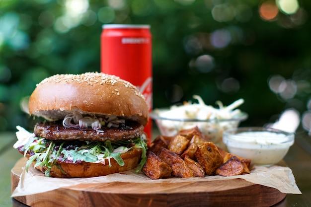 Burger und trinken