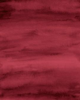Burgunder aquarell hintergrund, abstraktes rotes papier, aquarellpapier textur