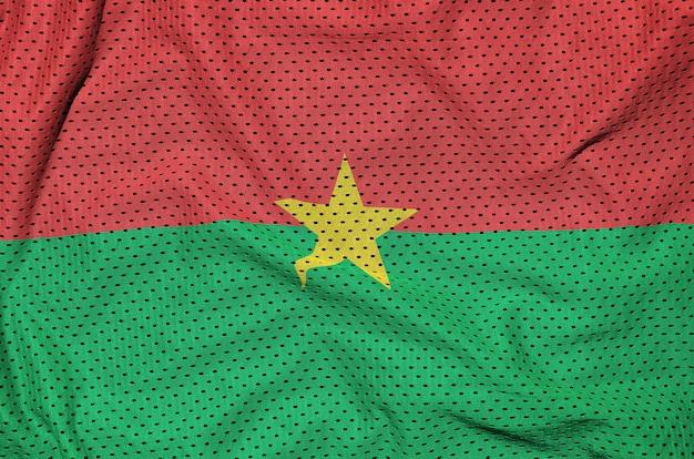 Burkina faso flagge auf polyester nylon gedruckt
