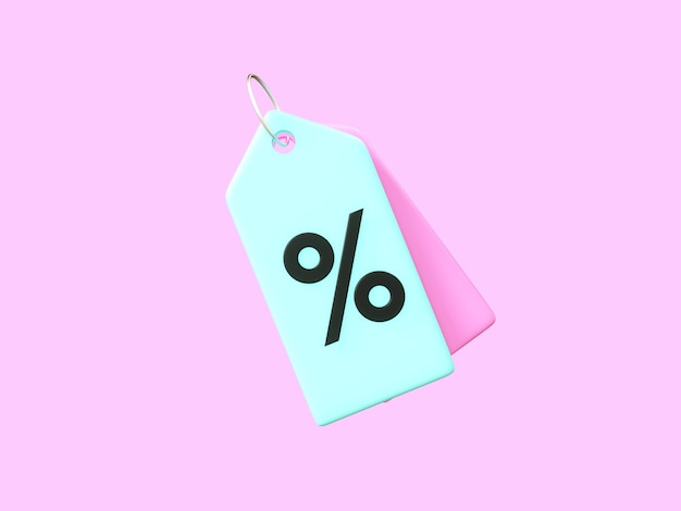 Business 3d-symbol auf pastellfarbenem hintergrund.