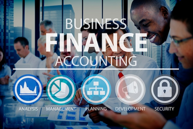 Business accounting-finanzanalyse-management-konzept