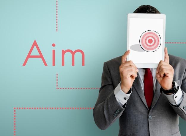 Business achievement ziel mission plan strategie symbol symbol