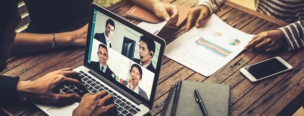 Business call group mit menschen bei der arbeit