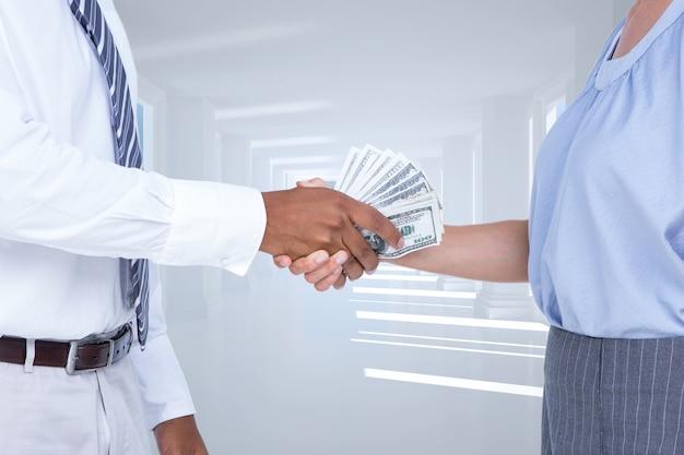 Business-computer-grafik geschäftsmann privatsphäre geld