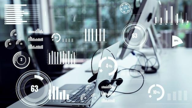 Business-dashboard für die finanzdatenanalyse – vorstellungsgrafik