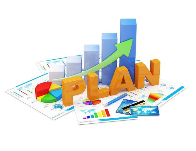 Business graph kreisdiagramm und finanzberichte