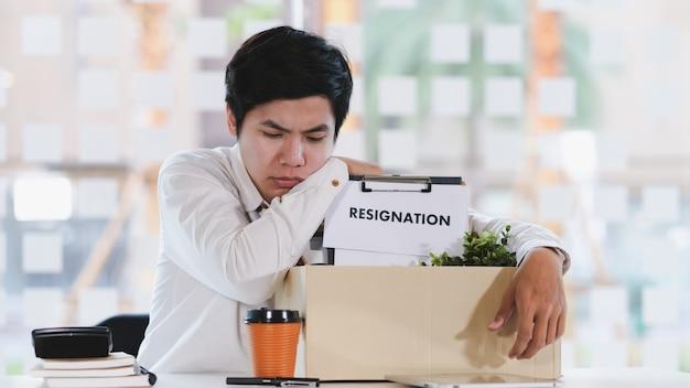 Business jobwechsel, arbeitslosigkeit, zurückgetreten.