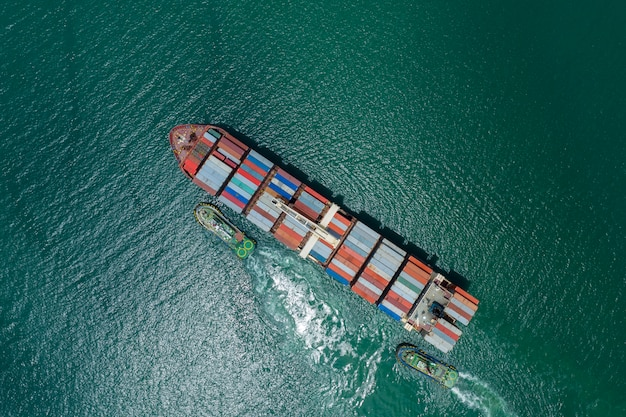 Business-logistik-container fracht schiffsfracht und import export international open sea