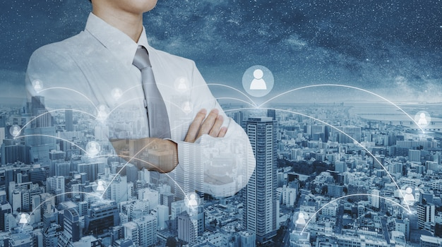 Business-netzwerk und hr-personalmanagement