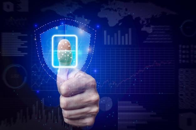 Business security-technologie für den datenschutz
