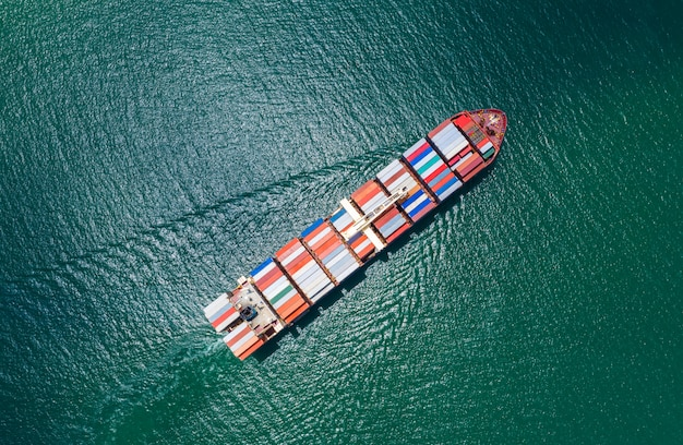 Business services versand frachtcontainer import und export transport internationalen seeschreck