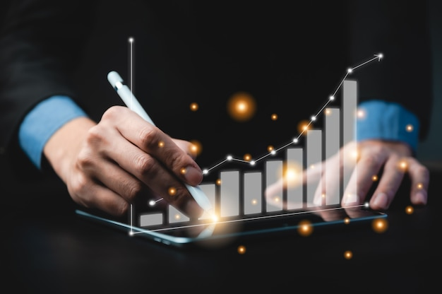 Business signing genehmigt erfolgreiches konzept, business man unterzeichnet vertrag und macht einen deal, der geschäftlichen erfolg erzielt