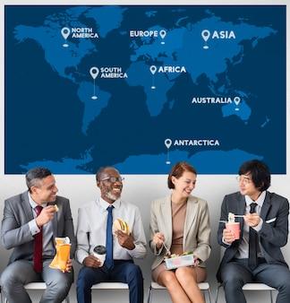 Business strategy corporation enterprise startup-konzept