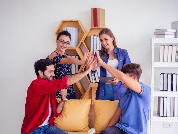 Business team feier erfolg