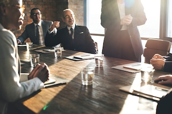 Business Team Meeting Brainstorming Zusammengehörigkeit Konzept