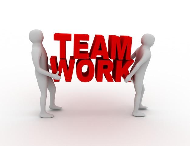 Business-teamwork-konzept. 3d-darstellung