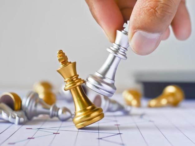 Business-wettbewerb von schach anwesend