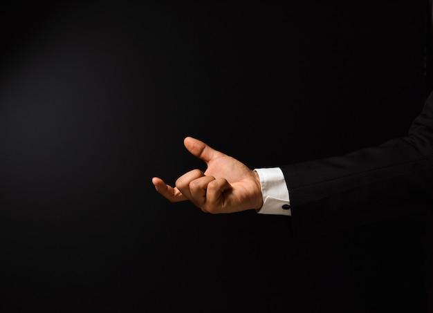 Businessman's hand