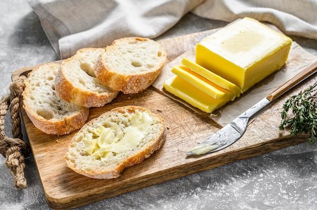 Butter- und baguettescheiben