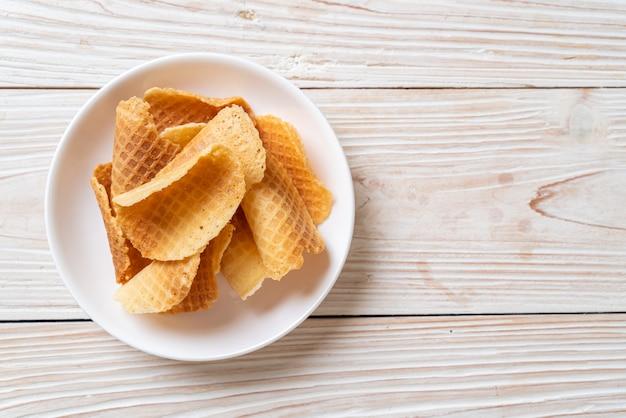 Butter und milch knusprige waffel