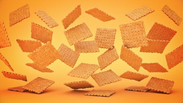 Butterkekse 3d-rendering