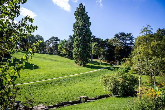 Buttes-chaumont park, paris